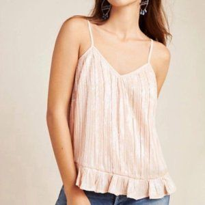 Anthropologie NWT beaded sequin cami size 14P